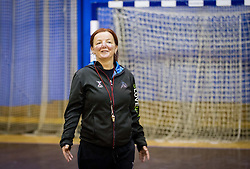 Coach Marta Bon  during practice session of Slovenian Women handball National Team three days before match against Serbia, on October 24, 2013 in Arena Tivoli, Ljubljana, Slovenia. (Photo by Vid Ponikvar / Sportida)