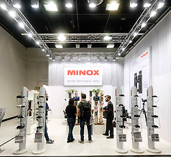 Minox optics stand at Photokina trade fair in Cologne, Germany , 2016
