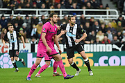 Andy Carroll of Newcastle United during the The FA Cup third round replay match between Newcastle United and Rochdale at St. James's Park, Newcastle, England on 14 January 2020.