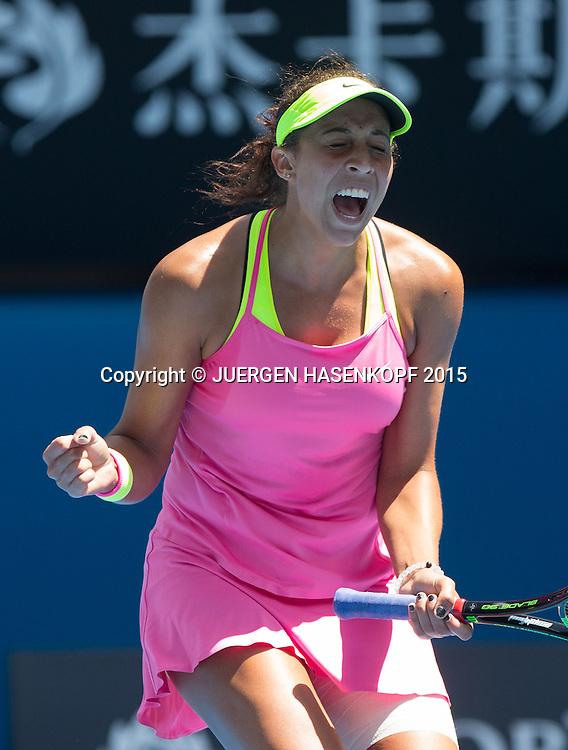 Madison Keys (USA)<br /> <br /> Tennis - Australian Open 2015 - Grand Slam ATP / WTA -  Melbourne Olympic Park - Melbourne - Victoria - Australia  - 28 January 2015.