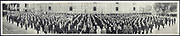World War I Panoramas <br /> <br /> These long panoramic photographs show U. S. military personnel and camps, patriotic parades, and European battlefields and cemeteries related to WWI.<br /> <br /> PHOTO SHOWS: Local Board #17, last quota, 815 men, Nov. 11, 1918, L.A.<br /> &copy;Library of Congress/Exclusivepix Media