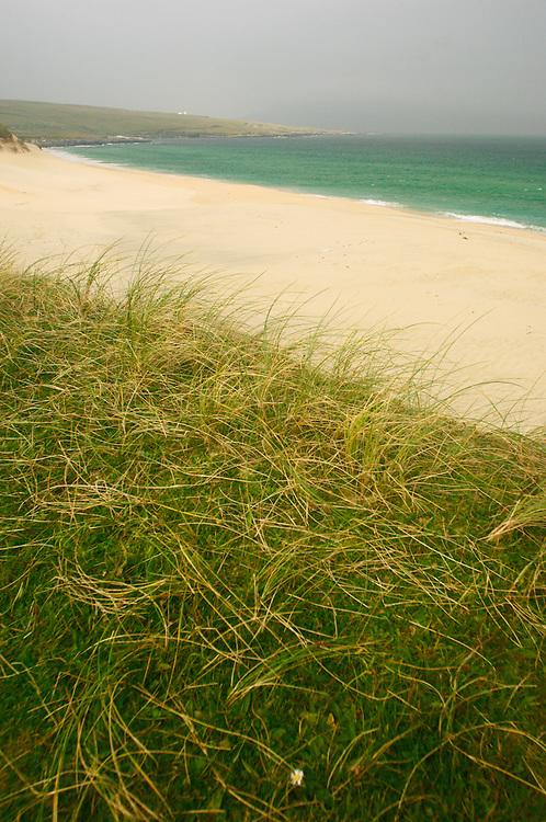 Machair, beach and Atlantic Ocean
