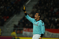 Football - UEFA Europa League - FC Utrecht vs. Steaua Bucharest. Fc Utrecht keeper Michel Vorm organises the defence for a freekick. Moments later he picks up the ball out of the net after a miscommunication.
