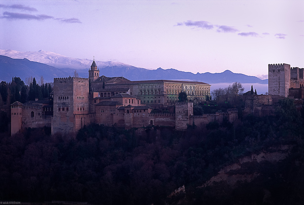 "— The Alhambra, translated as the ""red fortress"" from Arabic, was constructed in the 14th century by the Moorish rulers of Granada."