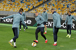 March 13, 2019 - Kiev, Ukraine - Chelsea ROSS BARKLEY (C) in action during a training session of his team on the Olimpiyskiy stadium in Kiev, Ukraine, on 13 March 2019. Chelsea will face Dynamo Kyiv in the UEFA Europa League, second leg soccer match in Kiev on 14 March 2019. (Credit Image: © Serg Glovny/ZUMA Wire)