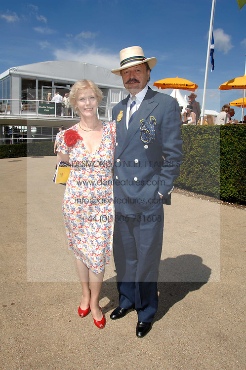 Actor PETER BOWLES and his wife SUE at the 4th day of the Glorious Goodwood racing festival 2007 held at Goodwood Racecourse, West Sussex on 3rd August 2007.<br />