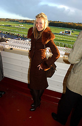 OLIVIA BUCKINGHAM at the 50th running of the Hennessy Gold Cup at Newbury Racecourse, Berkshire on 25th November 2006.<br /><br />NON EXCLUSIVE - WORLD RIGHTS