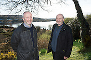 28/03/2016  Great Grand Nephews of Patrick Pears Fearghas Mac Lochlainn and his brother Eoin Mac Lochlainn at Pearse's Cottage, Teach an Phiarsaigh, in Rosmuc in Connemara during a special broadcast of RT&Eacute; Raidi&oacute; na Gaeltachta programme Adhmhaidin on Easter Monday 28 March 2016.  <br /> <br /> Patrick Pearse used the cottage as a summer house, and also as summer school for his pupils from St Enda&rsquo;s school in Dublin.  He was inspired by the people and the culture of the area, and it is said that he composed the graveside oration he gave at O&rsquo;Donovan Rossa&rsquo;s funeral in 1915 there.<br /> <br /> The broadcast was to commemorate the centenary of the Easter Rising, and also marked 30 years on air for the programme.  <br /> Photo:Andrew Downes, xposure.