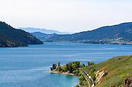 View of Kalamalka Lake from Vernon looking south towards Oyama, British Columbia, Canada