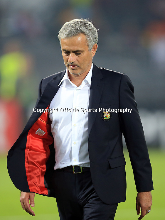 15 September 2016 - UEFA Europa League (Group A) - Feyenoord v Manchester United - Jose Mourinho Manager of Manchester United leaves the pitch after defeat - Photo: Marc Atkins / Offside.