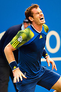 Britain's Andy Murray reacts during the final match against Croatia's Martin Cilic, for the Aegon Championships at the Queen's Club in London, Britain, 15 June 2013. EPA/BOGDAN MARAN
