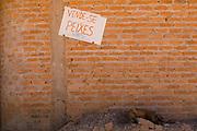 Ibiai_MG, Brasil...Detalhe de uma placa onde vende peixe em Ibiai, Minas Gerais...Detail of a sign where sell fish in Ibiai, Minas Gerais...Foto: LEO DRUMOND /  NITRO