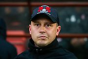 Leyton Orient interim manager Ross Embleton during the EFL Sky Bet League 2 match between Leyton Orient and Scunthorpe United at the Matchroom Stadium, London, England on 16 November 2019.