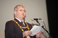 At a Universal Design Symposium, part of Galway's City Council's Social Inclusion week 2015 was  Cllr Frank Fahy Mayor of Galway City   at the Town Hall Theatre, Galway. Photo:Andrew Downes Xposure