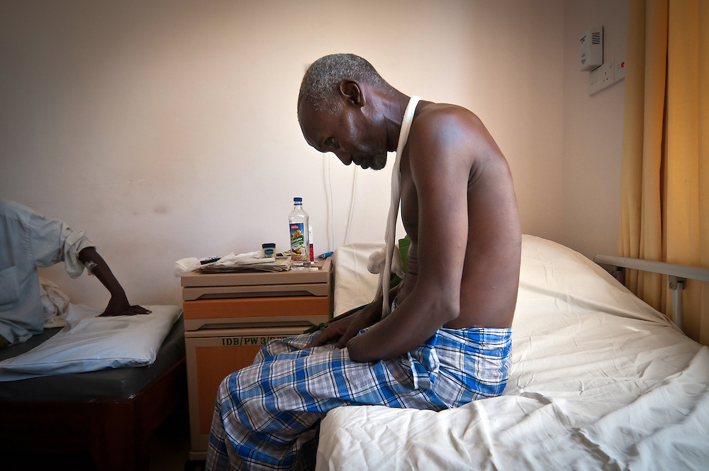 Boba Wacho, an elder Orma herder from Kipao village, lost his hand during an attack on his village in late December.  41 people were reportedly killed in the attack.  He recovers in Malindi's Tawfiq Hospital. In the run up to Kenya's Match 4 elections, many worry that the recent ethnic clashes in Tana Delta area could be a warning of violence to come.