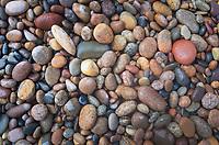 Stone beach, Whitefish Bay. Lake Superior Michigan
