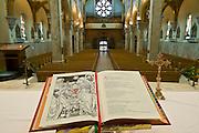 Roman Missal on the altar of Catholic Church. (Sam Lucero photo)