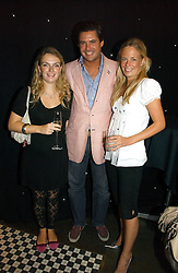Left to right, LADY SYBILLA HART, EDWARD TAYLOR and ASTRID HARBORD at the opening party of the new Frankie's Bar & Grill at Selfridges, Oxford Street, London on 6th September 2006.<br />