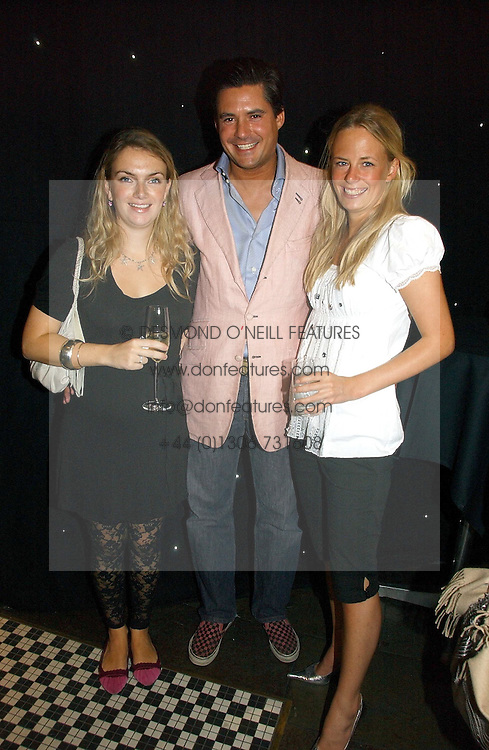 Left to right, LADY SYBILLA HART, EDWARD TAYLOR and ASTRID HARBORD at the opening party of the new Frankie's Bar & Grill at Selfridges, Oxford Street, London on 6th September 2006.<br /><br />NON EXCLUSIVE - WORLD RIGHTS