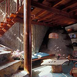 Interior of a Tamarind Retreat villa. Koh Samui, Thailand.