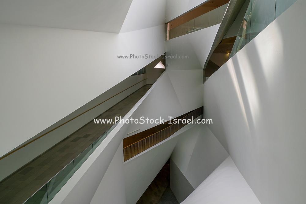 Interior of the Tel Aviv Museum of Art. Tel Aviv, Israel. Abstract Architecture