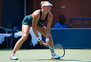Yanina Wickmayer of Belgium in action during the first round of the 2018 US Open Grand Slam tennis tournament, at Billie Jean King National Tennis Center in Flushing Meadow, New York, USA, August 28th 2018, Photo Rob Prange / SpainProSportsImages / DPPI / ProSportsImages / DPPI