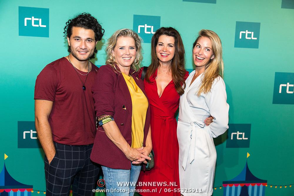 NLD/Halfweg20190829 - Seizoenspresentatie RTL 2019 / 2020, Melissa Drost en Alkan Coklu en Babette van Veen met Caroline de Bruijn