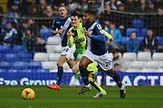 Birmingham City midfielder David Davis travels with the ball during the Sky Bet Championship match between Birmingham City and Huddersfield Town at St Andrews, Birmingham, England on 5 December 2015. Photo by Alan Franklin.