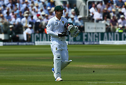 July 6, 2017 - London, England, United Kingdom - Quinton de Kock of South Africa .during 1st Investec Test Match between England and South Africa at Lord's Cricket Ground in London on July 06, 2017  (Credit Image: © Kieran Galvin/NurPhoto via ZUMA Press)
