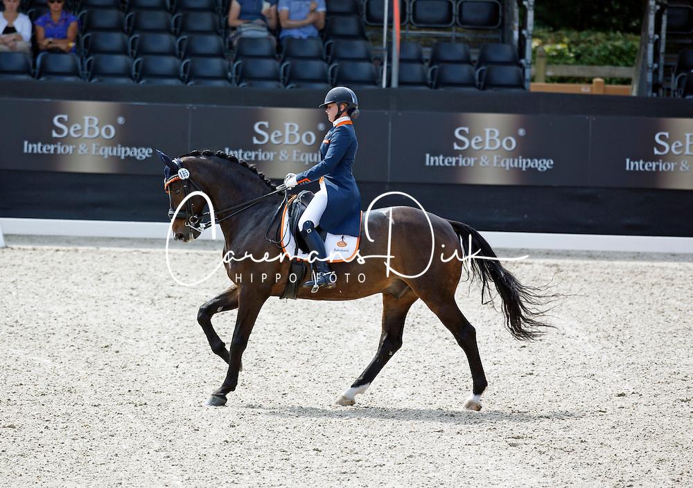 Zoutendijk Lisanne, (NED), Kostendrukkers Ringo Star<br /> Roelofsen Horse Trucks Prijs - Juniors Team Test<br /> Dutch Championship Dressage - Ermelo 2015<br /> &copy; Hippo Foto - Dirk Caremans<br /> 17/07/15