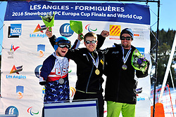 Europa Cup Finals Banked Slalom Medal Ceremony at the 2016 IPC Snowboard Europa Cup Finals and World Cup