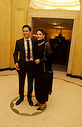 Julian Ovenden and actress Mary Elizabeth Mastrantonio. Grand Hotel-A Donmar Warehouse Gala evening in association with De Beers. Claridges. 2 December 2004. ONE TIME USE ONLY - DO NOT ARCHIVE  © Copyright Photograph by Dafydd Jones 66 Stockwell Park Rd. London SW9 0DA Tel 020 7733 0108 www.dafjones.com