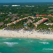 Aerial view of the Viva Wyndham Azteca on Playacar. Playa del Carmen. Mexico