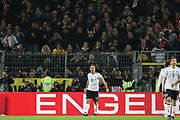 Lukas Podolski of Germany celebrates after his goal 1-0 during the International Friendly match between Germany and England at Signal Iduna Park, Dortmund, Germany on 22 March 2017. Photo by Phil Duncan.