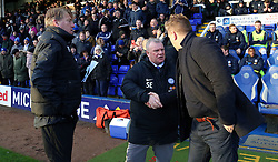 Peterborough United Manager Steve Evans shakes hands with Oxford United manager Karl Robinson before kick-off - Mandatory by-line: Joe Dent/JMP - 08/12/2018 - FOOTBALL - ABAX Stadium - Peterborough, England - Peterborough United v Oxford United - Sky Bet League One