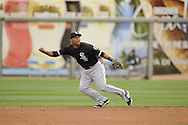 SURPRISE, AZ - MARCH 06:  Micah Johjnson #83 of the Chicago White Sox fields against the Kansas City Royals on March 6, 2014 at The Ballpark in Surprise in Surprise, Arizona. (Photo by Ron Vesely)   Subject: Micah Johnson