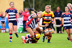 Charlotte Holland of Bristol Ladies is tackled by Sian Hobday of Richmond ladies - Mandatory by-line: Craig Thomas/JMP - 17/09/2017 - Rugby - Cleve Rugby Ground  - Bristol, England - Bristol Ladies  v Richmond Ladies - Women's Premier 15s