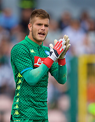 NAPLES, ITALY - Wednesday, October 3, 2018: Napoli's goalkeeper Alessandro D'Andrea during the UEFA Youth League Group C match between S.S.C. Napoli and Liverpool FC at Stadio Comunale di Frattamaggiore. (Pic by David Rawcliffe/Propaganda)
