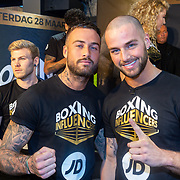 NLD/Rotterdam/20200224 - Stare down Boxing Influencers 2020,  Dave Roelvink en  Donny Roevink,