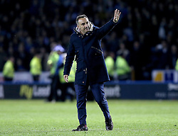 Sheffield Wednesday Manager Carlos Carvalhal waves to the crowd in celebration of his sides 2-0 win over Brighton & Hove Albion - Mandatory by-line: Robbie Stephenson/JMP - 13/05/2016 - FOOTBALL - Hillsborough - Sheffield, England - Sheffield Wednesday v Brighton and Hove Albion - Sky Bet Championship Play-off Semi Final first leg