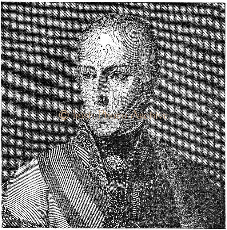 Francis II (1768-1835) Holy Roman Emperor from 1792. Francis I of Austria. Engraving.