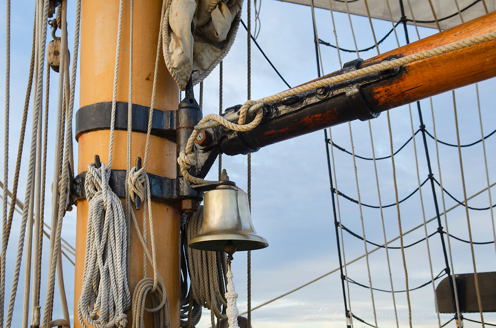 Hawaiian Chieftain ships bell. A Square Topsail Ketch. Owned and operated by the Grays Harbor Historical Seaport, Aberdeen, Washington