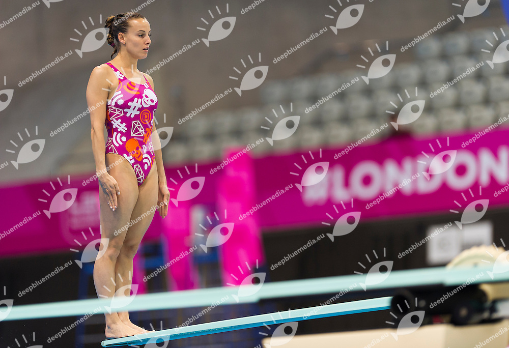 CAGNOTTO Tania ITA<br /> London, Queen Elizabeth II Olympic Park Pool <br /> LEN 2016 European Aquatics Elite Championships <br /> Diving<br /> Women's 1m springboard preliminary <br /> Day 03 11-05-2016<br /> Photo Giorgio Perottino/Deepbluemedia/Insidefoto