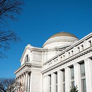 The exterior of the Smithsonian National Museum of Natural History on the National Mall in Washington DC.