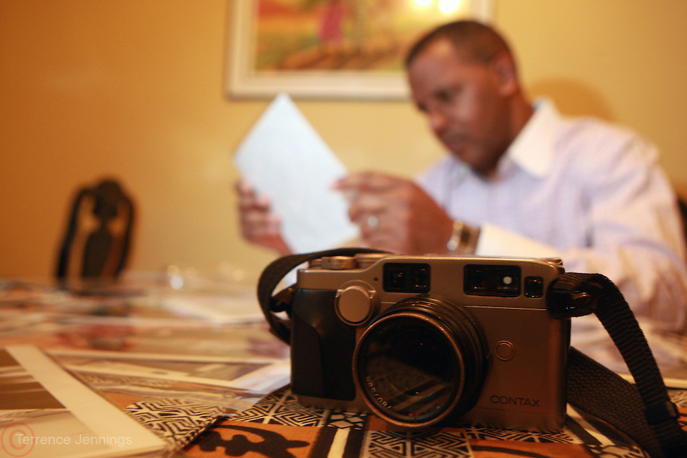 Jamel Shabazz at his residence on February 20, 2010 in Long Island, New York..Jamel Shabazz is a Documentary Photographer, Lecturer and Teacher of the Visual Arts. His work spans decades and he has traveled the world sharing his gift of photography. Jamel continues to inspire with his universal message of love and peace...