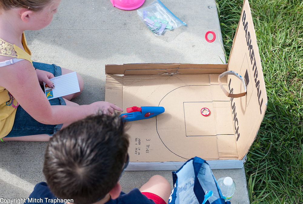 Students at Doby Elementary School in Apollo Beach joined an estimated one million other students around the world for the Global Cardboard Challenge on Oct. 5, 2013. The Cardboard Challenge began based on the viral short film, Caine's Arcade.