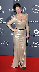 KATARINA WITT arrives at the Laureus Sport Awards held at the Queen Elizabeth II Centre, London, Monday February 6, 2012. Photo By i-Images
