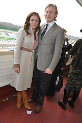 NATALIE PINKHAM and OWAIN WALBYOFF at the 2012 Hennessy Gold Cup at Newbury Racecourse, Berkshire on 1st December 2012