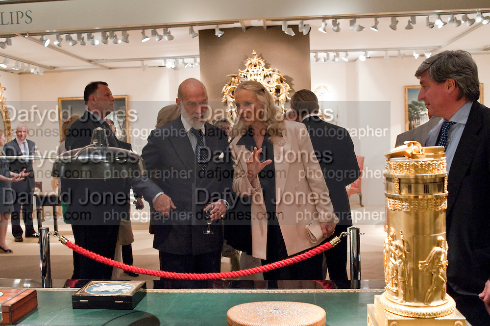 PRINCE MICHAEL OF KENT; PRINCESS MICHAEL OF KENT; ANTOINE CHENEVIERE, , Grosvenor House Antiques Fair Diamond Anniversary Party. Grosvenor House. 15 June 2009