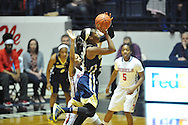 """Ole Miss vs. Georgia Tech in the WNIT at the C.M. """"Tad"""" Smith Coliseum in Oxford, Miss. on Sunday, March 22, 2015. Ole Miss won 63-48.(AP Photo/Oxford Eagle, Bruce Newman)"""